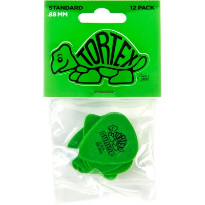 DUNLOP 418P88 PACK 12 TORTEX STANDARD 0.88 MM