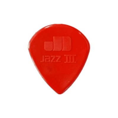 DUNLOP NYLON JAZZ III GUITAR PICK 1.38 RED