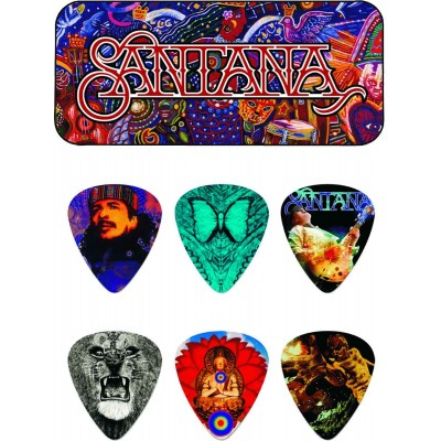 DUNLOP MEDIATORS COLLECTOR CARLOS SANTANA BOX OF 6, MEDIUM