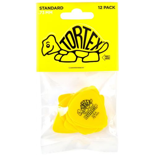 DUNLOP 418P73 PACK 12 TORTEX STANDARD 0.73 MM