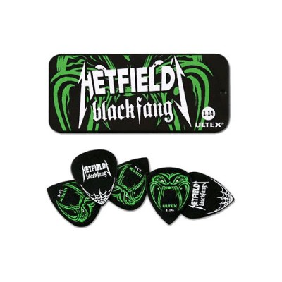 DUNLOP PH112T114 BOITE EN METAL DE 6 MEDIATORS MOTIF METALLICA JAMES HETFIELD ULTEX 1.14