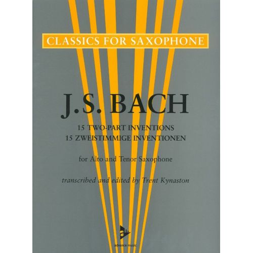 ADVANCE MUSIC BACH J.S - 15 ZWEISTIMMIGE INVENTIONEN FOR ALTO AND TENOR SAXOPHONE