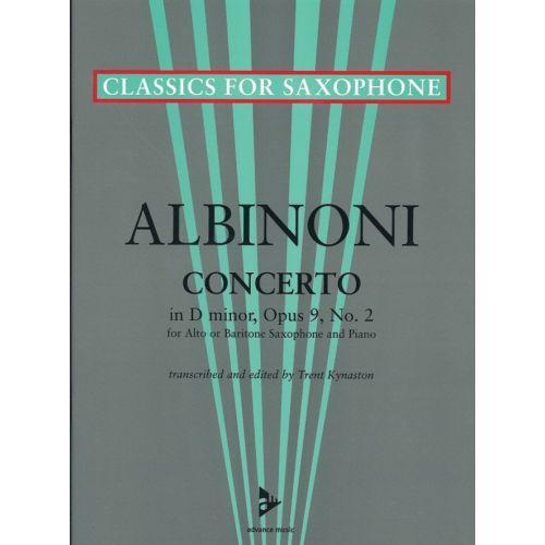 ADVANCE MUSIC ALBINONI T. - CONCERTO D-MOLL OP. 9/2 - ALTO OR BARITONE SAXOPHONE AND PIANO