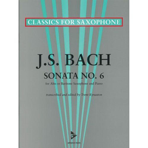ADVANCE MUSIC BACH J.S. - SONATA NO. 6 - SAXOPHONE (A/BAR) AND PIANO