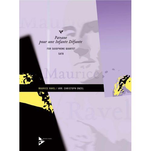 ADVANCE MUSIC RAVEL M. - PAVANE POUR UNE INFANTE DÉFUNTE - 4 SAXOPHONES (SATBAR)