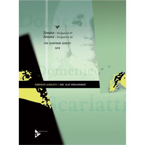ADVANCE MUSIC SCARLATTI D. - SONATA (KIRKPATRICK 87) + SONATA (KIRKPATRICK 133) - 4 SAXOPHONES (SATBAR)
