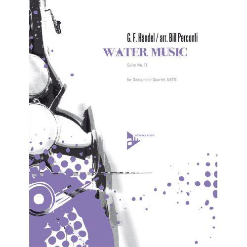 ADVANCE MUSIC HAENDEL G.F. - WATER MUSIC - 4 SAXOPHONES (SATBAR)