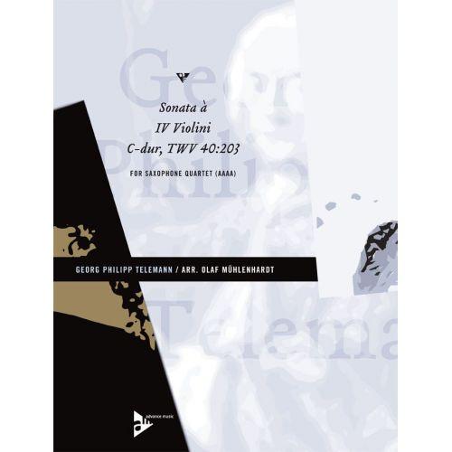ADVANCE MUSIC TELEMANN G.P. - SONATA À IV VIOLINI C-DUR TWV 40:203 - 4 SAXOPHONES