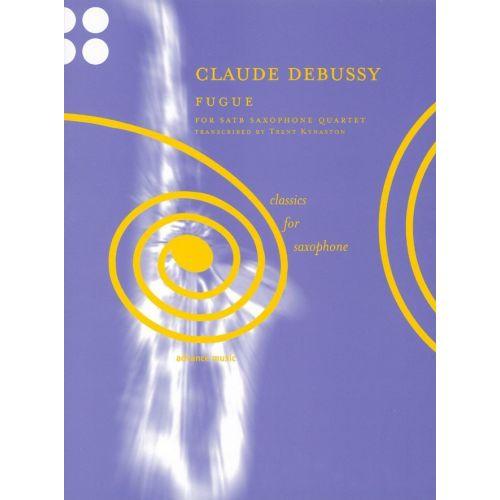 ADVANCE MUSIC DEBUSSY C. - FUGUE - 4 SAXOPHONES (SATB)