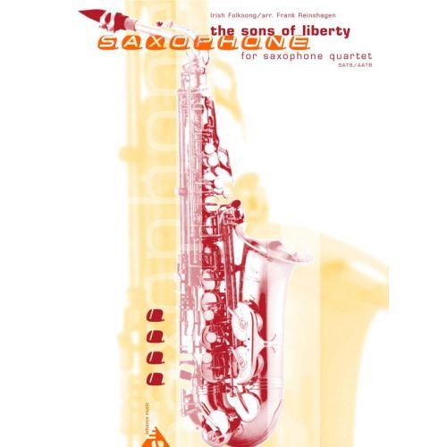 ADVANCE MUSIC REINSHAGEN F. - THE SONS OF LIBERTY - 4 SAXOPHONES (SATBAR/AATBAR)
