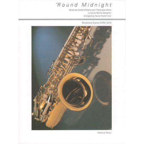 ADVANCE MUSIC MONK T. - 'ROUND MIDNIGHT - 4 SAXOPHONES (AATB/SATB)