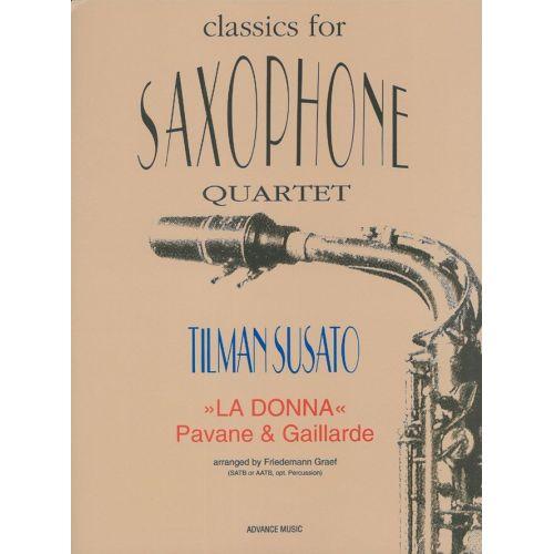 ADVANCE MUSIC SUSATO T. - LA DONNA - SAXOPHONE QUARTET (SATB OR AATB + OPT. PERC.) - 4 SAXOPHONES