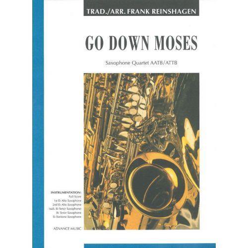ADVANCE MUSIC GO DOWN MOSES - 4 SAXOPHONES (AATTB/ATTB)