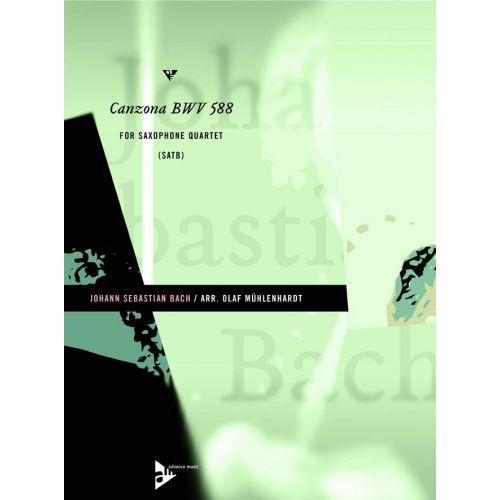 ADVANCE MUSIC BACH J.S. - CANZONA BWV 588 - 4 SAXOPHONES (S/AATB)