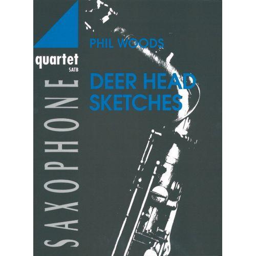 ADVANCE MUSIC WOODS P. - DEER HEAD SKETCHES - 4 SAXOPHONES (SATB)