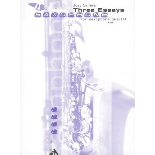 ADVANCE MUSIC SELLERS J. - THREE ESSAYS - 4 SAXOPHONES (SATB)