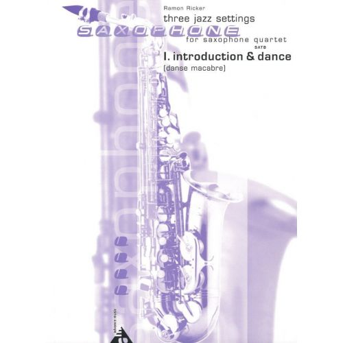 ADVANCE MUSIC RICKER R. - INTRODUCTION AND ALLEGRO (DANSE MACABRE) - 4 SAXOPHONES (SATB)