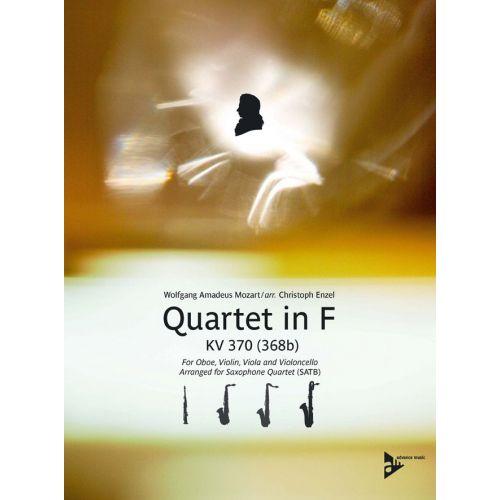 ADVANCE MUSIC MOZART W.A. - QUARTET IN F KV 370 (368B) - 4 SAXOPHONES (SATBAR)