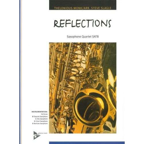 ADVANCE MUSIC MONK T. - REFLECTIONS - 4 SAXOPHONES (SATB)