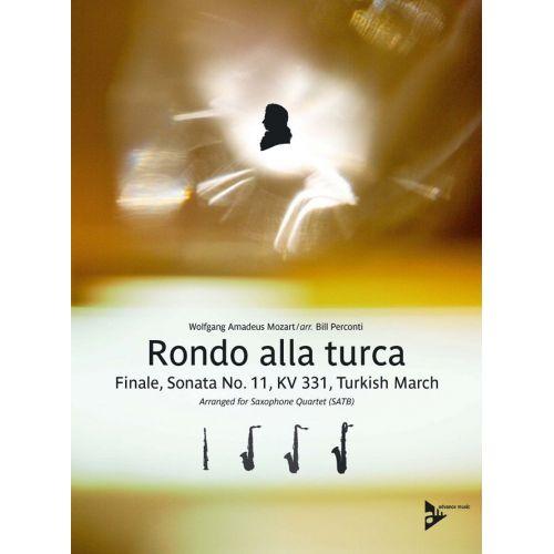 ADVANCE MUSIC MOZART W.A. - RONDO ALLA TURCA KV 331 - 4 SAXOPHONES (SATB)