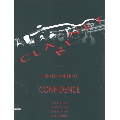 ADVANCE MUSIC WIBERNY H. - CONFIDENCE - 4 CLARINETTES (2 BB, ALTO-CLARINET EB (OU CLARINETTE BB), CLARINETTE BASSE