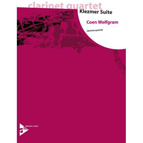 ADVANCE MUSIC WOLFGRAM C. - KLEZMER SUITE - 4 CLARINETTES (3 BB ET 1 CLARINETTE BASSE BB)