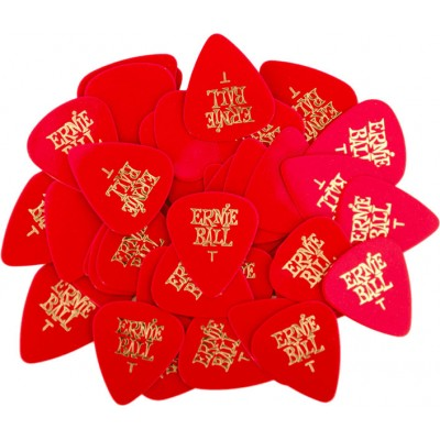 ERNIE BALL RED THIN PICK UNIT