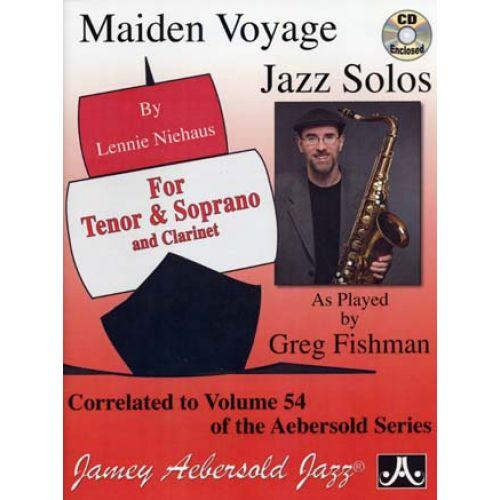 AEBERSOLD NIEHAUS MAIDEN VOYAGE JAZZ SOLOS FOR TENOR & SOPRANO & CLARINET + CD