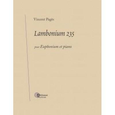 AEDAM MUSICAE PAGES VINCENT - LAMBONIUM 235 - TUBA & PIANO