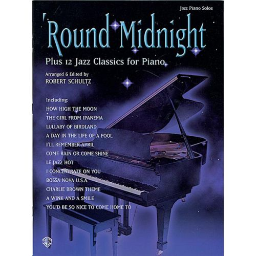 ALFRED PUBLISHING ROUND MIDNIGHT/12 JAZZ CLASSICS - PIANO