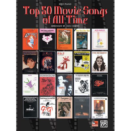ALFRED PUBLISHING TOP 50 MOVIE SONGS OF ALL TIME - PIANO SOLO