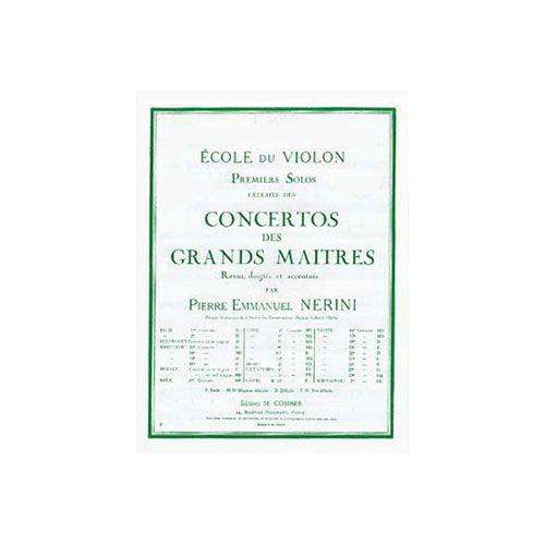 COMBRE VIOTTI GIOVANNI BATTISTA - SOLO N.1 DU CONCERTO N.13 - VIOLON ET PIANO