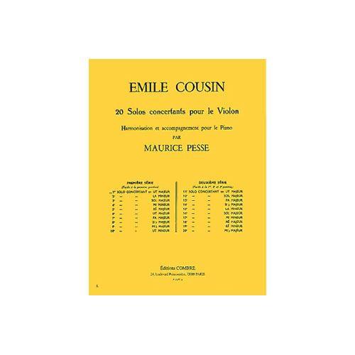 COMBRE COUSIN EMILE - SOLO CONCERTANT N.1 EN UT MAJ. - VIOLON ET PIANO OU ORGUE
