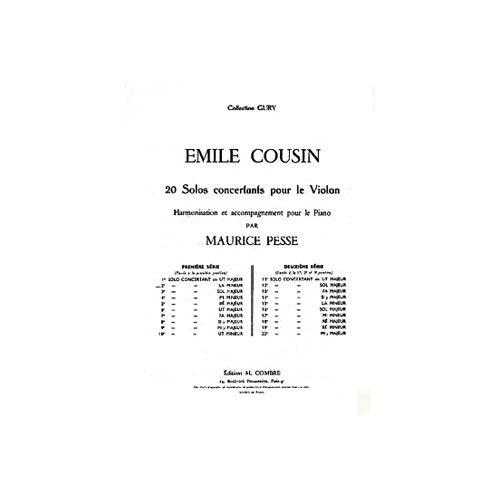 COMBRE COUSIN EMILE - SOLO CONCERTANT N.2 EN LA MIN. - VIOLON ET PIANO