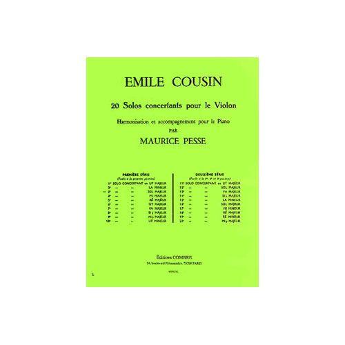 COMBRE COUSIN EMILE - SOLO CONCERTANT N.3 EN SOL MAJ. - VIOLON ET PIANO