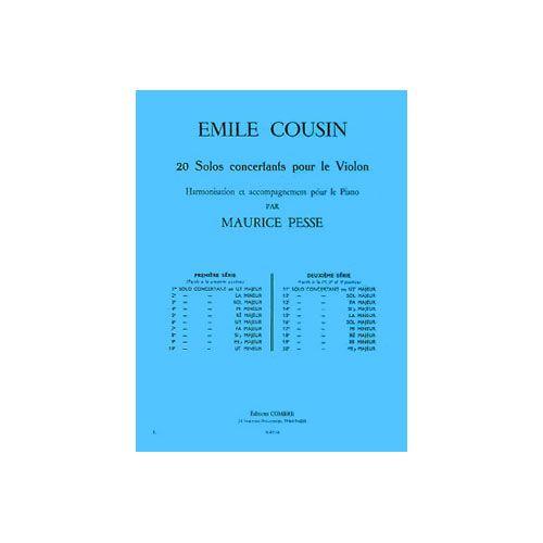 COMBRE COUSIN EMILE - SOLO CONCERTANT N.4 EN MI MIN. - VIOLON ET PIANO