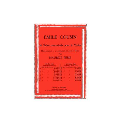 COMBRE COUSIN EMILE - SOLO CONCERTANT N.11 EN UT MAJ. - VIOLON ET PIANO