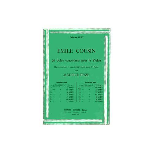 COMBRE COUSIN EMILE - SOLO CONCERTANT N.12 EN SOL MAJ. - VIOLON ET PIANO