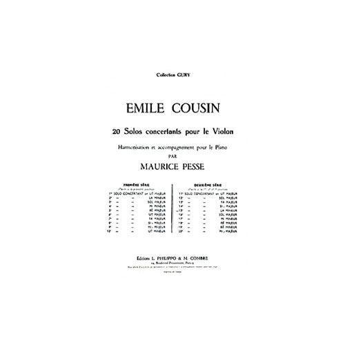 COMBRE COUSIN EMILE - SOLO CONCERTANT N.15 EN LA MIN. - VIOLON ET PIANO