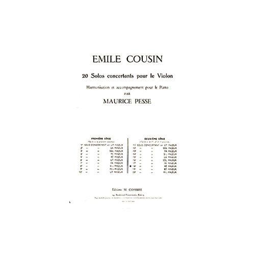 COMBRE COUSIN EMILE - SOLO CONCERTANT N.18 EN RE MAJ. - VIOLON ET PIANO
