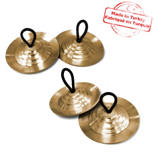 agean turkish professional finger cymbals bronze 58mm 2 pair