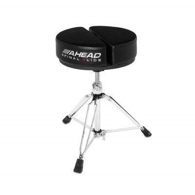 AHEAD SPG-ARTB ROUND DRUM THRONE SPINAL-G BLACK - 3 LEG BASE