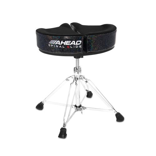 AHEAD SPG-BS-4 DRUM THRONE SPINAL-G BLACK SPARKLE - 4 LEGS BASE