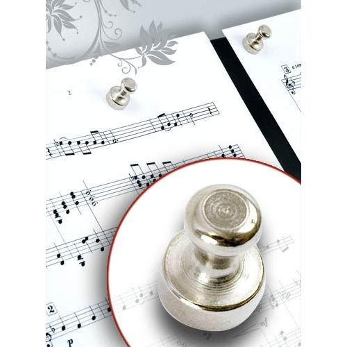 ANNE FUZEAU PRODUCTIONS SET OF 4 MAGNETS MUSIC ACCESSORIES FOR SCORES