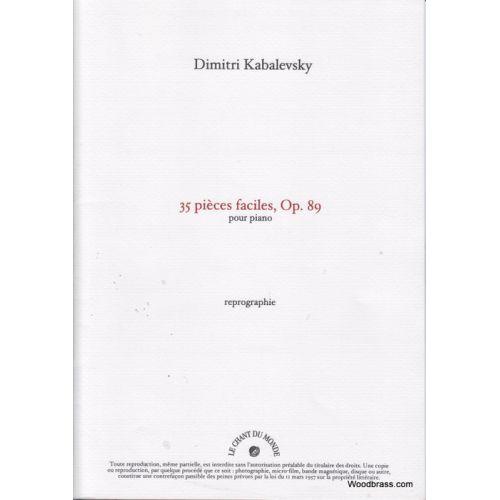 CHANT DU MONDE KABALEVSKI - 35 PIÈCES FACILES OP.89 PIANO