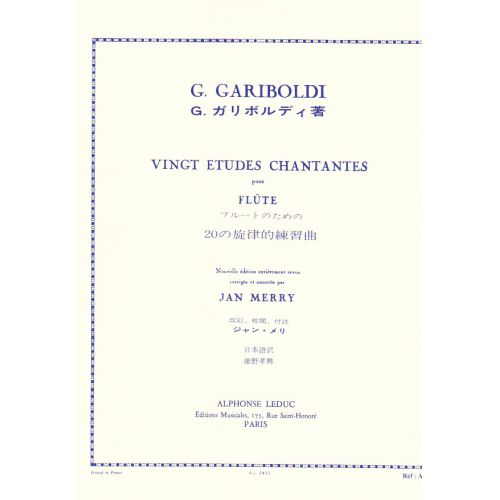 LEDUC GARIBOLDI G. - 20 ETUDES CHANTANTES OP. 88