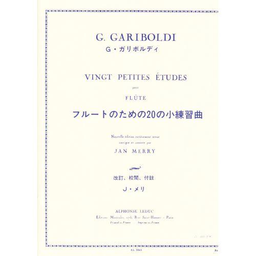 LEDUC GARIBOLDI G. - 20 PETITES ETUDES - FLUTE