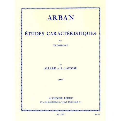 LEDUC ARBAN - ETUDES CARACTERISTIQUES