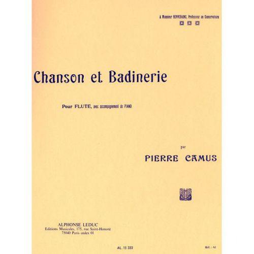 LEDUC CAMUS - CHANSON ET BADINERIE - FLUTE ET PIANO