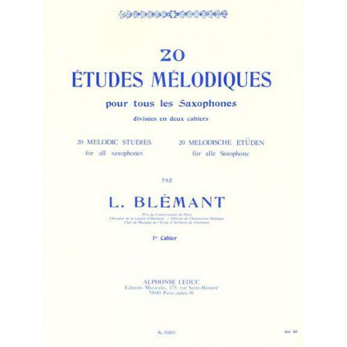 LEDUC BLEMANT L. - 20 ETUDES MELODIQUES POUR SAXOPHONE VOL.1
